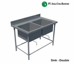 Stainless Steel Sink - Double