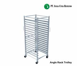 Stainless Steel Angle Rack Trolley